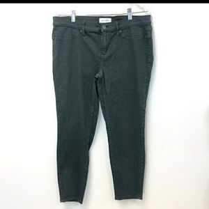 Anthropologie Lila Ryan Dark Green Skinny Jeans